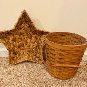 Vintage boho basket set